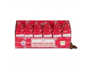 Shrinivas Satya Vonné kužely tekoucí dým Dragon's Blood, 24 ks