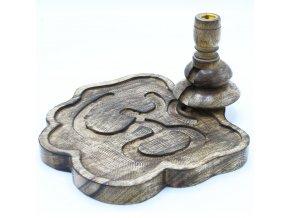 Ancient Wisdom Velký stojan na vonné kužely Tekoucí dým OHM, 13 x 23 x 22 cm