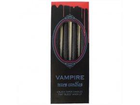 Černé svíčky Vampire Tears Balení, 4 ks