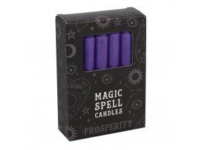 Magic Spell Candles Magické svíčky Fialová, 12 ks