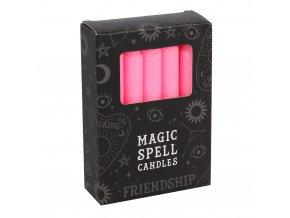 Magic Spell Candles Magické svíčky Friendship Růžová, 12 ks
