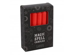 Magic Spell Candles Magické svíčky Love Červená, 12 ks