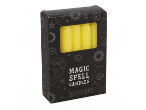 Magic Spell Candles Magické svíčky Success Žlutá, 12 ks