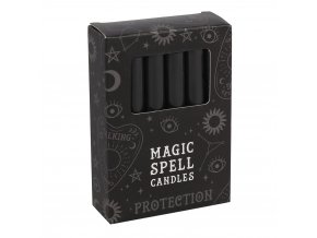 Magic Spell Candles Magické svíčky Protection Černá, 12 ks
