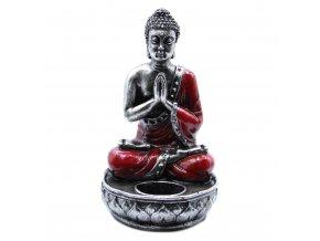 Ancient Wisdom Svícen na čajovou svíčku Buddha červený, 22 x 12,5 x 11 cm 1