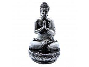 Ancient Wisdom Svícen na čajovou svíčku Buddha bílý, 22 x 12,5 x 11 cm 1