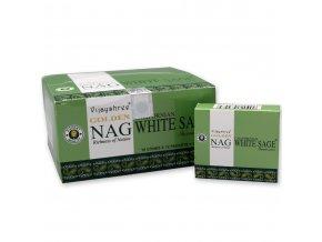 Vijayshree Golden Nag White Sage Vonné kužely, 10 ks