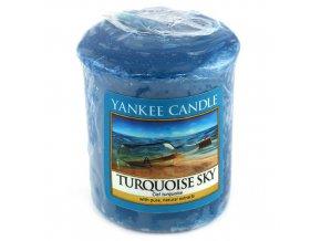 Votivní svíčka Yankee Candle Tyrkysová obloha, 49 g