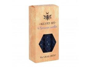 Blessed Bee Magické svíčky Modré Včelí vosk, 6 ks