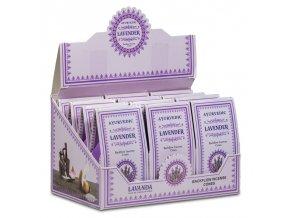 Ayurvedic Lavender Vonné kužely tekoucí dým, 10 ks