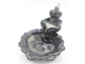 Ancient Wisdom Stojan na vonné kužely Tekoucí dým Lotos, 11 x 8 cm 1