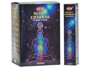 HEM Seven Chakra Vonné tyčinky, 7 x 5 tyčinek 1