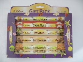TULASI Vonné tyčinky MUSK GIFTPACK Dárkové balení, 6 x 20 ks 1