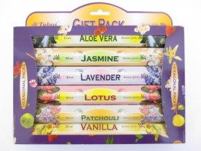 TULASI Vonné tyčinky FLOWERS GIFTPACK Dárkové balení, 6 x 20 ks