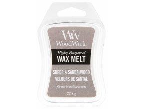 Vonný vosk WoodWick Sueded Sandalwood Semišové santalové dřevo, 22,7 g