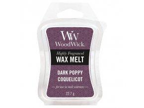 Vonný vosk WoodWick Dark Poppy Tmavý mák, 22,7 g