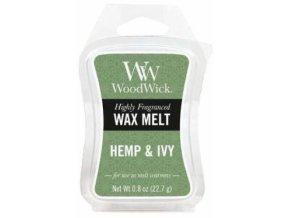 Vonný vosk WoodWick Hemp & Ivy Konopí a břečťan 22,7 g