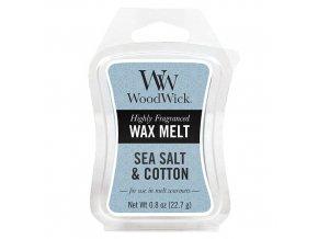 Vonný vosk WoodWick Sea Salt and Cotton Mořská sůl a Bavlna, 22,7 g
