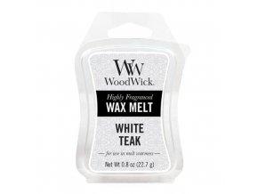 Vonný vosk WoodWick White Teak Bílý teak, 22,7 g