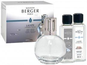 Maison Berger Paris Essential Katalytická lampa Round, náplň Bavlněná péče 250 ml, náplň Neutrální 250, ml dárková sada
