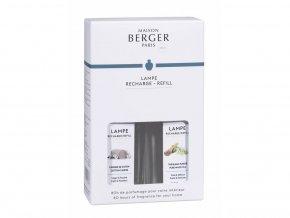 Maison Berger Paris Duopack Bílý čaj Čistá bavlna Náplně do katalytických lamp, 2 x 250 ml