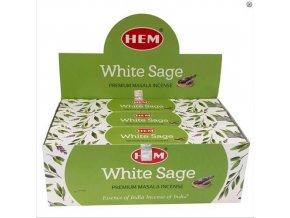 HEM White Sage Bílá šalvěj Premium Masala Vonné tyčinky, 15 g