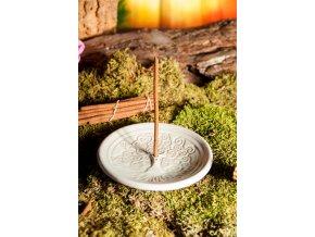 Mani Bhadra Stojánek na vonné tyčinky Yggdrasil tyrkysová keramika, 14 cm