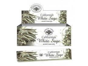 Green Tree Californian White Sage Natural Masala Vonné tyčinky, 15 g