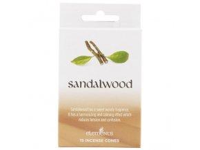 Elements Vonné kužely Sandalwood Santalové dřevo, 15 ks
