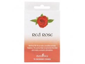 Elements Vonné kužely Red Rose Červená růže, 15 ks
