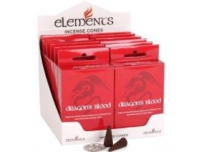 Elements Vonné kužely Dragon's Blood Dračí krev, 15 ks