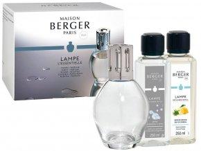 Maison Berger Paris Essential Ovale Katalytická lampa, náplň Verbena 250 ml + náplň Neutrální 250, ml dárková sada