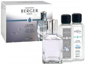 Maison Berger Paris Essential Cube Katalytická lampa, náplň Mořský vzduch 250 ml + náplň Neutrální 250, ml dárková sada