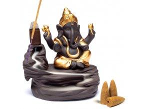 Mani Bhadra Stojan na vonné kužely Ganesh, 9 x 6 x 10 cm