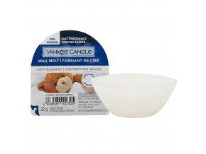 Yankee Candle Vonný vosk Soft Blanket Jemná přikrývka, 22 g