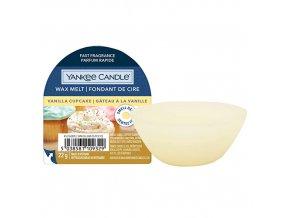 Yankee Candle Vonný vosk Vanilla Cupcake Vanilkový košíček, 22 g