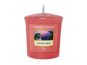 Yankee Candle Votivní svíčka Cliffside Sunrise Východ slunce na útesu, 49 g