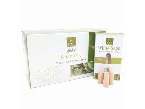 BALAJI Vonné kužely tekoucí dým Masala White Sage JUMBO, 10 ks