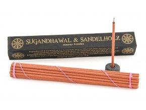 Berk Esoterik Vonné tyčinky Tibetan Line Sugandhawal & Sandalwood, 45 g