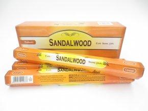 TULASI Vonné tyčinky Sandalwood Santalové dřevo, 20 ks