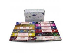 Shrinivas Satya Vonné tyčinky BOX 4 MIX vůní, 12 x 15 g