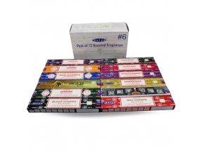 Shrinivas Satya Vonné tyčinky BOX 6 MIX vůní, 12 x 15 g