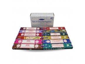 Shrinivas Satya Vonné tyčinky BOX 2 MIX vůní, 12 x 15 g