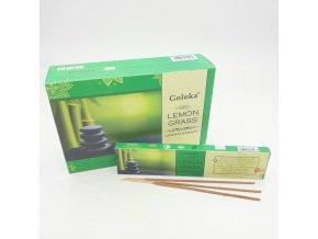 Goloka Vonné tyčinky Aromatherapy Lemongrass , 15 g