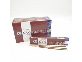 Vijayshree Vonné Tyčinky Golden Nag SEVEN CHAKRA, 15 g