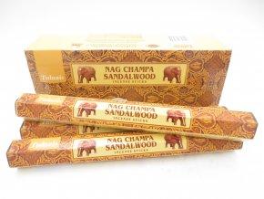 TULASI Vonné tyčinky NAG CHAMPA SANDALWOOD, 15 g