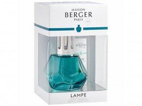 Maison Berger Paris Katalytická lampa Geometry modrá + náplň Vůně oceánu dárková sada, 250 ml