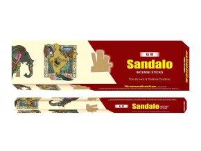 GR Vonné tyčinky EXTRA velké Sandalo Sandalwood, 10 ks