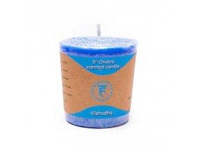 Yogi & Yogini Naturals Votivní svíčka 5. Chakra modrá, 1 ks