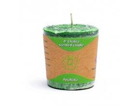 Yogi & Yogini Naturals Votivní svíčka 4. Chakra zelená, 1 ks
